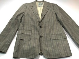 Seven 7 For All Mankind L Casual Blazer Jacket Coat Grey Check Large Men's - $69.99