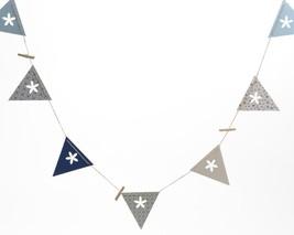 Kaemingk 7' French Countryside Blue White Flag Flower Cutout Message Banner - $155,90 MXN