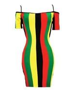Rasta Dress Reggae Jamaica Clothing Off Shoulder - $39.99