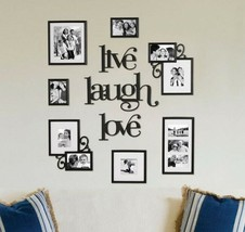 Big Picture Frame Set For Wall Live Laugh Love Collage Photo Family Pic ... - $974,89 MXN