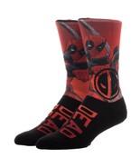 Deadpool Marvel Comics Sublimated over Knit Adult Crew Socks - $9.99