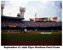 MLB 1999 Last Game Tiger Stadium Tigers vs Royals Color 8 X 10 Photo  Pi... - $5.63