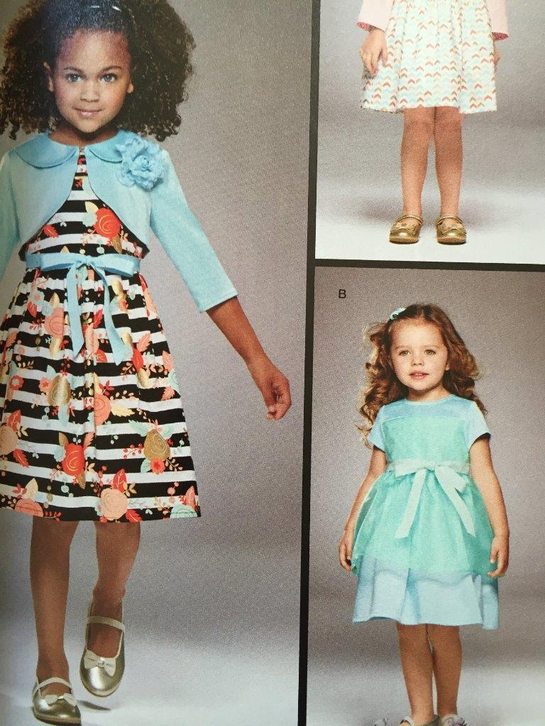 Primary image for Simplicity Sewing Pattern 8025 Girls Childs Dress Bolero Size 1/2 - 3 New