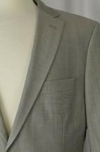 Hugo Boss Men's Suit Sz 40 Regular USA Virgin Wool Gray Career Double Ve... - $143.54