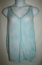 Calvin Klein Performance Misses MEDIUM Tank Top Tunic Thin Aqua Blue Cover Up - $13.33