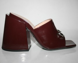 NIB Gucci Platform Horsebit Lexi Heels Mules in Burgundy 37.5 - $494.01