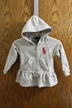Ralph Lauren Gray Zip Jacket with Hood - Size 9M Girls - $9.99