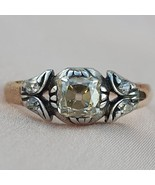 Lovely 1860 Victorian Old Mine Cut Diamond Engagement Ring  Antique Diam... - £61.71 GBP