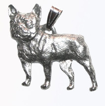 Frenchie French Bulldog Pendant Dog Harris Fine Pewter Made in USA jewelry - $10.99