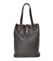 Women's Leather Boho Chic Purse Studded Expandable Lined Transport Tote Handbag image 3
