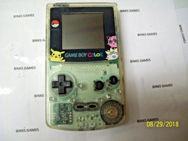 GameBoy Color  Clear Handheld Console - POKEMON SCREEN COVER  - $44.99