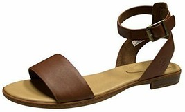 Timberland Women's Cherrybrook Brown Full-Grain Leather Sandals A1PCY - $59.99