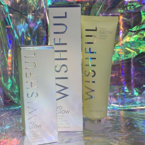NEW IN BOX Wishful By Huda Kattan Yo Glow Enzyme Scrub Full Size 100mL/3.38oz