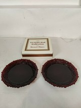 Avon 1876 Cape Cod Collection Ruby Red Desert Plates - $12.95