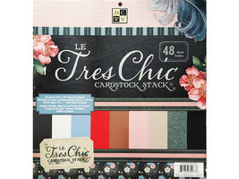 DCWV Le Tres Chic Cardstock Stack, 48 Sheets