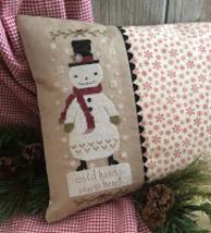Cold Hands Warm Heart snowman cross stitch chart Annie Beez Folk Art  - $9.00