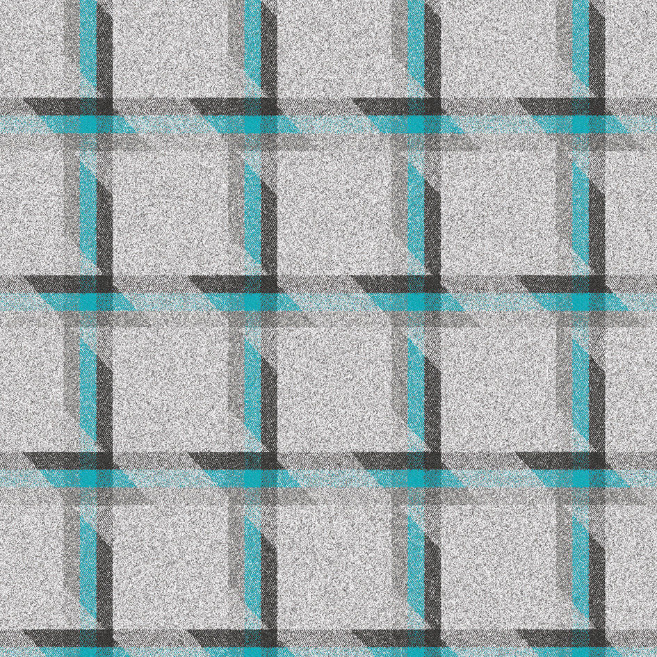 2.75 yds Camira Upholstery Fabric Landscape Balance Plaid Wool Blue LDB06 D