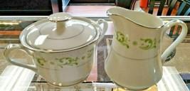 Sugar Bowl & Lid and Creamer Bridgit by Royal Hostess - $18.70
