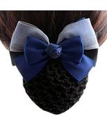 Elastic Bun Headdress Hair Snood Net Barrette Clip, Blue-gray K16 - $23.43