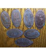 LOT 7 ELONGATED CENT PENNY WALT DISNEY THEME PARK - $11.39