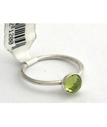 Authentic Pandora August Droplet 925 Silver Peridot Ring 191012PE-50 Sz ... - $38.84