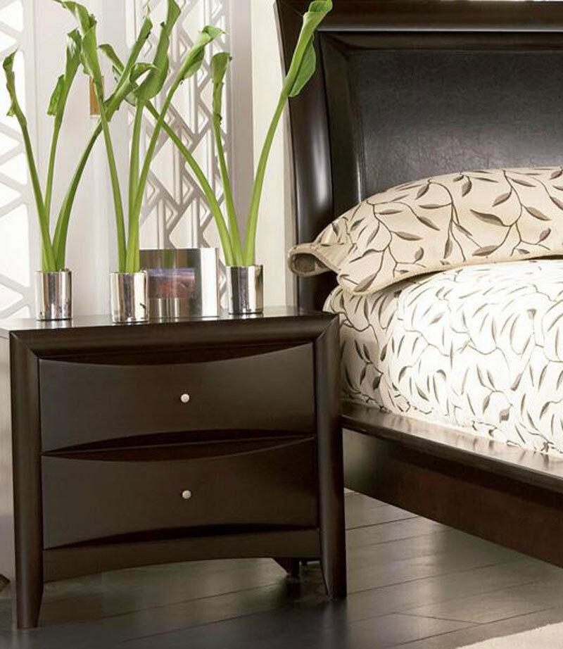 5 Modern Bedrooms: Modern Espresso Brown Finish 5 Piece Bedroom Set W. King