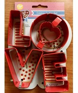 Wilton LOVE Metal 4 Piece Cookie Cutters Valentine Wedding Shower Party ... - $9.85