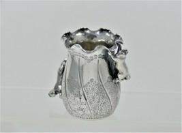 Meriden Quadruple Silverplate Aesthetic Toothpick Holder - Applied Squir... - $75.00