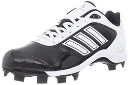 New Adidas Monica Tpu 2 Women's Softball Cleat G59052 BLK/WHT/SILV Size 10.5 - $39.99
