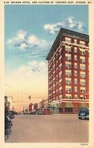ATHENS, GA Georgia  HOLMAN HOTEL & Street View   c1940's Linen Postcard - $4.85