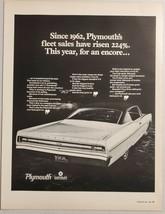 1968 Print Ad Plymouth Sport Fury Cars Chrysler Fleet Sales - $14.83