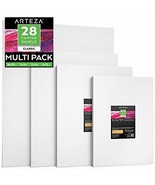 "Arteza Painting Canvas Panels Multi Pack, 9x12"", 11x14"", 12x16"", 16x20"" ... - $63.18"