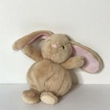 "Baby Gund Bunny Rabbit Plush Rattle Baby Soft Toy  6"" Tall Tan Pink - $22.65"