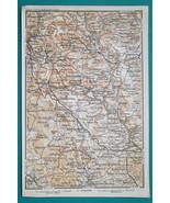 1897 BAEDEKER MAP - ENGLAND Peak District National Park Hartington - $7.65