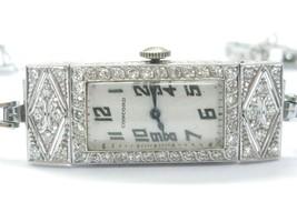 "Vintage Concord Platinum / 14Kt NATURAL Diamond Wristwatch 7"" 2.00CT - $4,900.50"