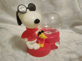 VINTAGE JOE COOL & WOODSTOCK PEANUTS GUMBALL MACHINE BY SUPERIOR TOY - $28.66