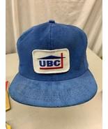 trucker hat baseball cap Vintage Snapback Patch UBC United building cent... - $49.99