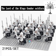 21pcs The Lord of the Rings Gondor Soldiers Spear With Metal Armor Minifigures - $34.50