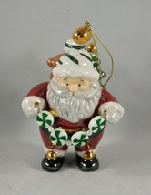 Santa Ceramic Ornament Sack of Toys Candy Holiday Christmas - $6.78