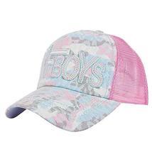 PANDA SUPERSTORE Summer Hat Sun Hat Mesh Cap Outdoor Baseball Cap Visor Embroide