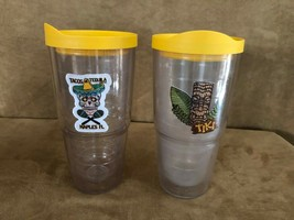 16 oz Tervis Tumblers drinking glass lot lids tacos & tequila tiki trave... - $29.50