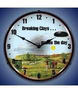 New Clay Shooting LIGHTED clock  Dozens cool clocks available USA Made F... - $159.95