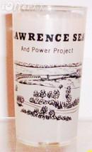 1960'S Retro Hazel ATLAS--FROSTED Souvenir Saint Lawrence Seaway Glass - $7.95
