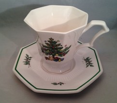Very Pretty NIKKO Christmastime Cup & Saucer Made in Japan - $5.83
