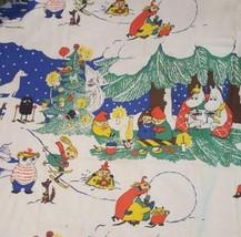 Moomin vintage fabric rare christmas - $206.15