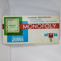 Monopoly Board Game Vintage 1961 Parker Brothers Classic Original Box - $14.03