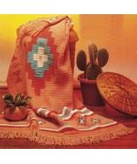 Crochet Southwest Sante Fe Fiesta Desert Native Blanket Throw Afghan Pat... - $9.99