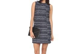 Kensie Women's Digital Lines Dress Midnight Sapphire Combo Small - $98.20