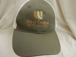 trucker hat baseball cap cool cloth WEST CENTRAL mesh curved brim rare nice - $39.99