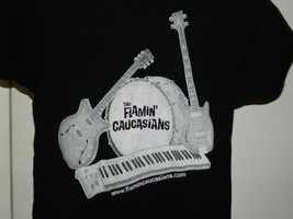RARE The Flamin' Caucasians t-shirt Cult Wedding Cover Band From Philadelphia - $17.82